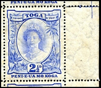 Lot 22206 [3 of 3]:1920-35 Pictorials Wmk Turtles Sideways SG #59a, 2½d blue recut 2½ [1/1] and wide D [4/10] in complete sheet of 60, Cat £384++, plate 2 below 5/2 and screw head in margin, gum quite aged