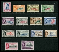 Lot 29177:1957 QEII Pictorials SG #237-50 1d to 10/-, Cat £62. (14)