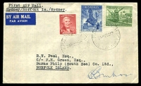 Lot 5407 [1 of 2]:1947 Sydney - Norfolk Island AAMC #1113 plain cover with Newcastle set, signed by pilot, Cat $125.