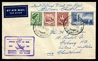 Lot 644 [1 of 2]:1951 Melbourne - Christchurch AAMC #1274 cover with Special cachet in violet at lower left backstamped Christchurch 29JUN1951 AAMC 1274.