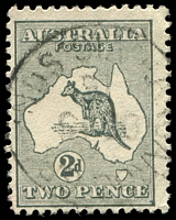 Lot 887:2d Grey Die I BW #7a Wmk Inverted, retail $50.
