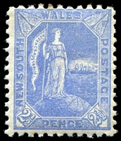 Lot 693:1890 Allegorical SG #265 2½d ultramarine P11x12, Cat £18.