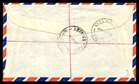 Lot 7314 [2 of 2]:Alice Springs South: - 'ALICE SPRINGS SOUTH/29JE70/N.T.-AUST' on 5c & 25c on air cover to Melbourne with blue provisional registration label.  PO 15/6/1960; closed 27/3/1987.