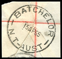 Lot 1020:Batchelor: - 'BATCHELOR/15AP65/N.T-AUST' on piece  PO 30/1/1953.