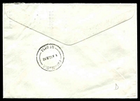 Lot 7115 [2 of 2]:Borroloola: Pointing Hand on cover from Melbourne, 'BORROLOOLA/11=A12JE92/NT 0854' backstamp.  PO 1/9/1886.