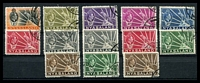 Lot 4495:1938-44 Leopard SG #130-8 set to 1/-, includes 1942 colours, Cat £28. (13)