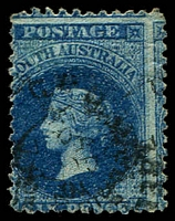 Lot 1606:1868-79 Wmk Large Star Perf 11½-12½ SG #73 6d Prussian blue, Cat £7.