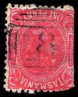 Lot 8833:8: on 1d Sideface (trimmed off perfs). [Rated 2R]  Allocated to Bream Creek-RH 15/3/1854; PO c.1860; closed 31/12/1894.