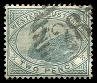 Lot 3518:28: on 1890 2d grey.  Allocated to Irwin-PO c.1858; closed 28/4/1978.