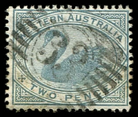 Lot 3355:33: on 2d grey.  Allocated to Jarrahdale-TO 11/2/1880; PO c.-/9/1882.