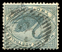Lot 17782:3: on 1890 2d grey.  Allocated to Ashburton-PO c.-/8/1884; renamed Onslow PO 26/10/1885; renamed Onslow South RO 27/7/1925.