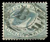 Lot 17765:B: of Bunbury on 2d grey.