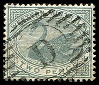 Lot 3519:D: of Dongarra on 1890 2d grey.