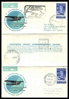 Lot 869:1958 1st Tasman Crossing Anniversary By TEAL AAMC #1395a boomerang special folded card.