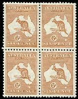 Lot 996:6d Chestnut BW #23 block of 4, bottom units MUH, Cat $260.