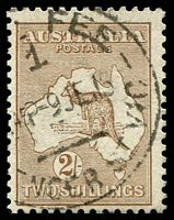 Lot 146:2/- Brown BW #35 Cat $250, fine central CDS.
