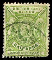 Lot 20087:1906-1901 QV SG #65 ½d yellow-green with Double-lined letter wmk.