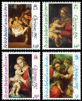 Lot 3284:1992 Christmas SG #128-31 set of 4.