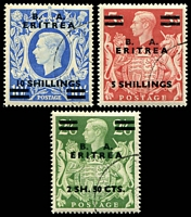 Lot 19723:1950 Surcharges SG #E23-5 high values set of 3, Cat £87.