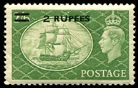 Lot 3285:1950-55 New Colours and Values SG #41 2r on 2/6d yellow-green, gum slightly aged, Cat £45.