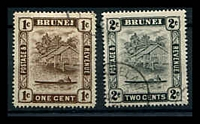 Lot 3410 [2 of 2]:1947-51 New Colours and Values SG #79-90 simplified set to $1 with both 10c perfs, ex 3c, Cat £25. (11)
