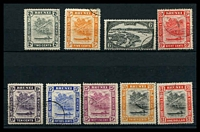 Lot 18202:1947-51 New Colours and Values SG #79-90 simplified set, 2c to $1, ex 3c, Cat £20. (9)