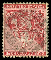 Lot 18555:25: 2nd type of Robertson on 1885 1d carmine-red.