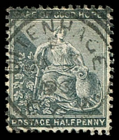 Lot 20028:Uitenhage: 'UITENHAGE/E/JA13/96/C.G.H' 1st squared-circle with smaller letters, on 1886 ½d grey.