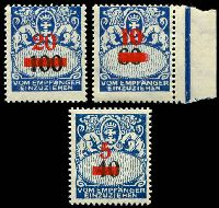 Lot 3389:1932 Surcharges SG #D226-8 set of 3, Cat £50.