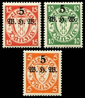 Lot 3413:1934 Winter Relief SG #226-8 set of 3, Cat £60.