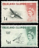 Lot 3710:1960-66 Birds SG #193a,194a 1½d & 1d DLR printings, Cat £25.