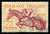 Lot 3742:1953 Sports SG #1190 75f Horse Jumping, Cat £18.