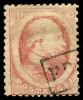 Lot 25363:1864 SG #9 10c rose (Haarlem printing), Cat £11.