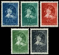 Lot 4015:1937 Child Welfare SG #473-7 set of 5.
