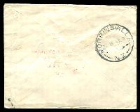 "Lot 3999 [2 of 2]:1948 (Apr 23) use of ½d Peace pair on unsealed cover from Waharoa to ""Rural Delivery/Morrinsville"". Boxed 'NOT FOUND' & 'No box on rural.' and RTS hand all on face."