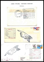 Lot 1495:Jabiru: - group of 4 unclaimed covers or large pieces from the early 1990s  PO 27/10/1980. [Ranger Uranium Mine]