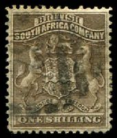 Lot 27048:1892-93 Arms Perf 14,14½ SG #4 1/- grey-brown, Cat £15.