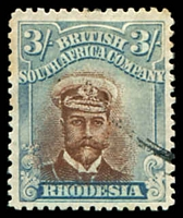 Lot 4351:1913-22 Admirals Double Plates Head Die II Perf 14 SG #236b 3/- brown & blue, Cat £140.