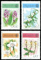 Lot 4133:1990 Orchids SG #767-70 set of 4, Cat £15.
