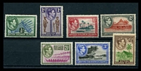 Lot 28110 [2 of 2]:1939-51 Pictorials SG #60-72 set of 13, Cat £85, 4½d & 2/- with tropicalised gum.