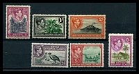 Lot 27984:1939-51 Pictorials SG #60-72 set of 13, Cat £85, 4½d & 2/- with tropicalised gum.