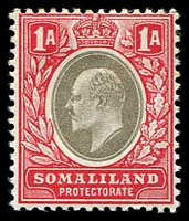 Lot 4440:1904 KEVII Wmk Crown/CA SG #33 1a grey-black & red, Cat £19.