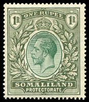 Lot 28198:1921 KGV Wmk Script CA SG #82 1r green.
