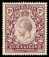 Lot 4378:1921 KGV Wmk Script CA SG #83 2r dull purple & purple, toned gum, Cat £26.