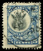 Lot 4210:1925 New Frame Colours SG #91 25c blue.
