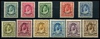 Lot 28320:1930 Locust Campaign SG #183-5,187-94 set to 500m, ex 5m, Cat £127. (11)