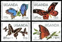Lot 29008:1984 Butterflies SG #452-5 set of 4.