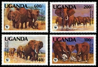 Lot 4255:1991 Elephants SG #988-91 set of 4.
