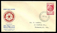 Lot 779:WCS 1955 Rotary red & blue, typed address.