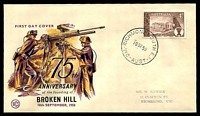 Lot 4612:WCS 1958 Broken Hill black, purple & yellow, stamped address.